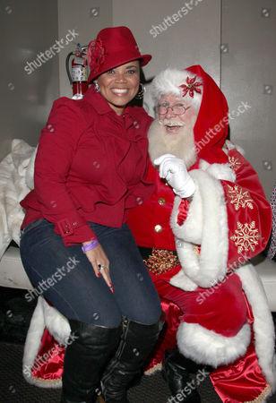Kimberly Locke and Santa
