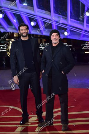 Ramzy Bedia (L) and guest attend the screening of 'The Irishman' during the 18th annual Marrakech International Film Festival, in Marrakech, Morocco, 02 December 2019. The film festival runs from 29 November to 07 December 2019.