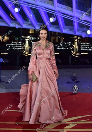 Delphine Wespiser attends the screening of 'The Irishman' during the 18th annual Marrakech International Film Festival, in Marrakech, Morocco, 02 December 2019. The film festival runs from 29 November to 07 December 2019.