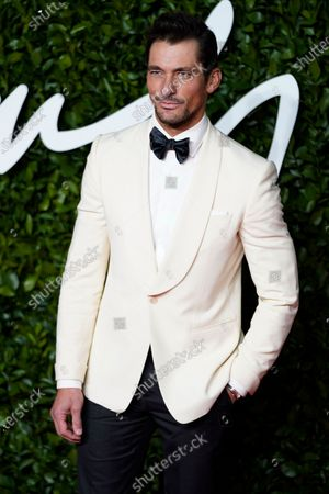 British model David Gandy arrives for The Fashion Awards at the Royal Albert Hall in Central London, Britain, 02 December 2019. The awards showcases individuals and businesses that have contributed to the British fashion industry.