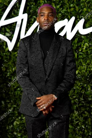 British rapper and fashion designer Tinie Tempah arrives for The Fashion Awards at the Royal Albert Hall in Central London, Britain, 02 December 2019. The awards showcases individuals and businesses that have contributed to the British fashion industry.