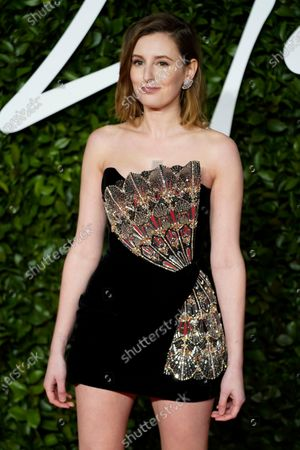 British actress Laura Carmichael arrives for The Fashion Awards at the Royal Albert Hall in Central London, Britain, 02 December 2019. The awards showcases individuals and businesses that have contributed to the British fashion industry.