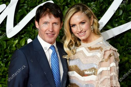 Stock Picture of British singer James Blunt (L) and Sofia Wellesley (R) arrive for The Fashion Awards at the Royal Albert Hall in Central London, Britain, 02 December 2019. The awards showcases individuals and businesses that have contributed to the British fashion industry.
