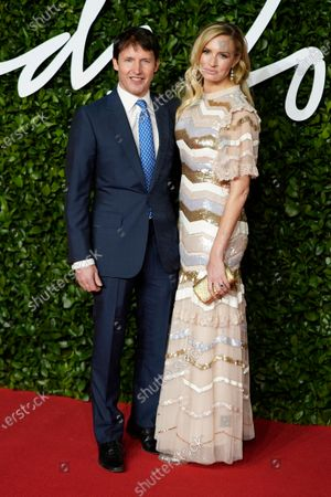 Stock Photo of British singer James Blunt (L) and Sofia Wellesley (R) arrive for The Fashion Awards at the Royal Albert Hall in Central London, Britain, 02 December 2019. The awards showcases individuals and businesses that have contributed to the British fashion industry.
