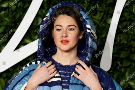 US actress Shailene Woodley arrives for The Fashion Awards at the Royal Albert Hall in Central London, Britain, 02 December 2019. The awards showcases individuals and businesses that have contributed to the British fashion industry.