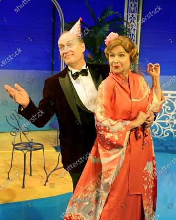 Stock Photo of Adrian Edmondson as Lord Brockhurst, Izzy van Randwyck as Lady Brockhurst