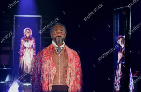 Gloria Onitiri, Paterson Joseph as Scrooge, Melissa Allan