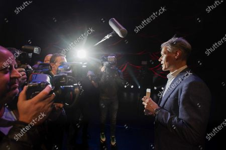 Dutch soccer legend Marco van Basten (R) receives the first copy of his BASTA biography at the Amsterdam International Theater, Amsterdam, The Netherlands, 02 December 2019.