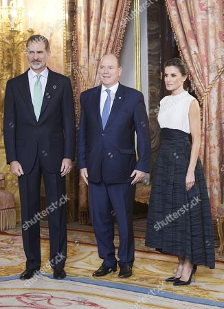 King Felipe VI, Queen Letizia and Albert II, Prince Rainier