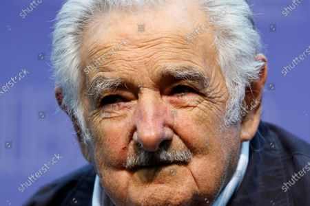 The former president of Uruguay Jose Mujica, today during a press conference in Mexico City, Mexico, 02 December 2019, prior to the Honoris Causa ceremony that will be granted by the Universidad Iberoamericana.
