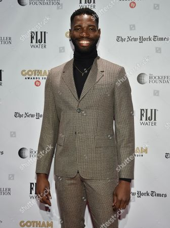 Tarell Alvin McCraney attends the Independent Filmmaker Project's 29th annual IFP Gotham Awards at Cipriani Wall Street, in New York