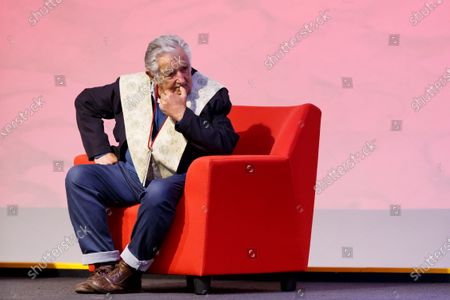 The former president of Uruguay Jose Mujica, attends an event to receive Honoris Causa doctorate from the Universidad Iberoamericana, in Mexico City, Mexico, 02 December 2019.