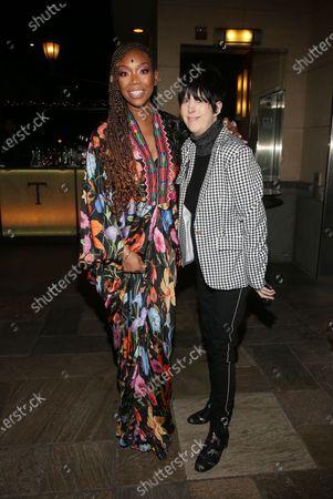 Brandy Norwood and Diane Warren