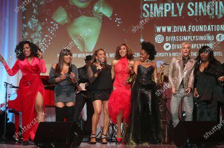 Stock Image of Sheryl Lee Ralph, Deborah Cox, Shanice Wilson, Rhonda Ross Kendrick, Elaine Gibbs and Frankie Grande