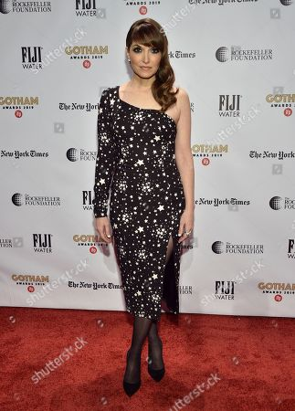 Lorene Scafaria attends the Independent Filmmaker Project's 29th annual IFP Gotham Awards at Cipriani Wall Street, in New York