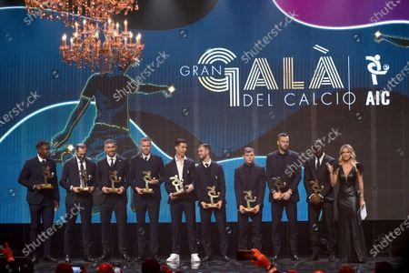 Cristiano Ronaldo, Diletta Leotta, Duvan Zapata, Giorgio Chiellini, Aleksandar Kolarov, Josip Ilicic, Miralem Pjanic, Nicolo Barella, Samir Handanovic and Kalidou Koulibaly