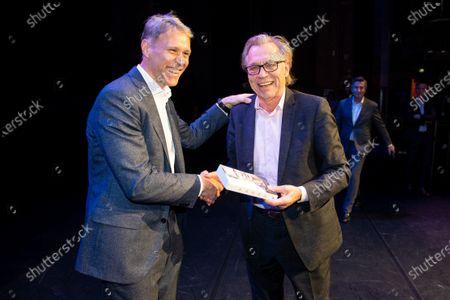 Stock Image of Marco van Basten and Jan Mulder