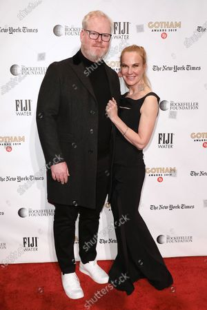 Stock Picture of Jim Gaffigan and Jeannie Gaffigan