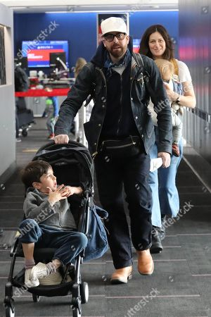 Editorial picture of Adam Goldberg and Roxanne Daner at LAX International Airport, Los Angeles, USA  - 02 Dec 2019