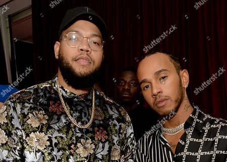 Stock Image of Rorrey Fenty and Lewis Hamilton