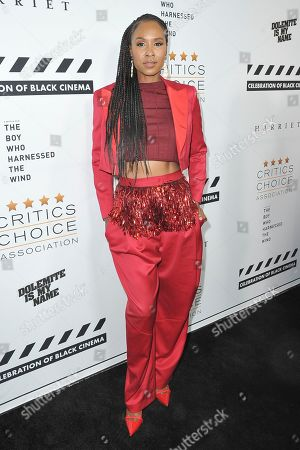 Stock Picture of Sydelle Noel attends the Celebration of Black Cinema at the Landmark Theatre, in Los Angeles
