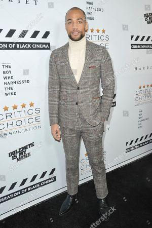 Kendrick Sampson attends the Celebration of Black Cinema at the Landmark Theatre, in Los Angeles