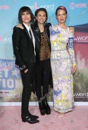 Katherine Moennig, Ilene Chaiken and Leisha Hailey