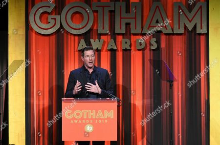 Edward Burns presents a Tribute Award at the Independent Filmmaker Project's 29th Annual IFP Gotham Awards at Cipriani Wall Street, in New York