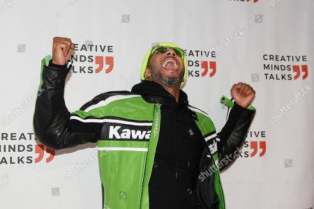 Swizz Beatz arrives to a Creative Minds Talks during Art Basel, in Miami Beach, Fla