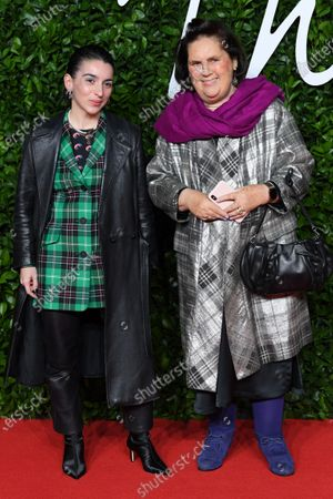 Stock Picture of Marine Serre and Suzy Menkes