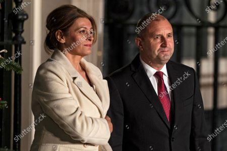 Bulgarian President Rumen Radev (R) and his wife Desislava Radeva (L) arrive at 10 Downing Street for a reception during the NATO Summit in London, Britain, 03 December 2019. NATO countries' heads of states and governments gather in London for a two-day meeting.