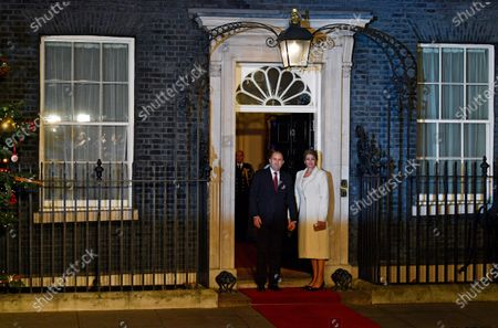 President of Bulgaria Rumen Radev (L) and his wife First Lady of Bulgaria Desislava Radeva (R) arrive at 10 Downing Street during the NATO Summit in London, Britain, 03 December 2019. NATO countries' heads of states and governments gather in London for a two-day meeting.