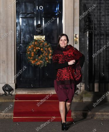 Icelandic Prime Minister Katrin Jakobsdottir departs 10 Downing Street during the NATO Summit in London, Britain, 03 December 2019. NATO countries' heads of states and governments gather in London for a two-day meeting.