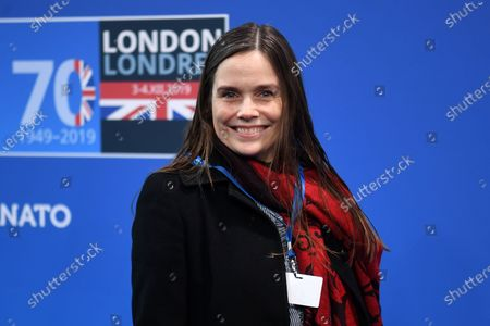 Prime Minister of Iceland Katrin Jakobsdottir arrives at the NATO Summit in London, Britain, 04 December 2019. NATO countries' heads of states and governments gather in London for a two-day meeting.