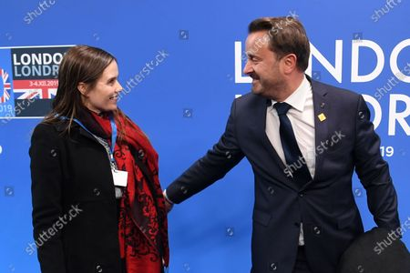 Prime Minister of Iceland Katrin Jakobsdottir and Prime Minister of Luxembourg Xavier Bettel arrive at the NATO Summit in London, Britain, 04 December 2019. NATO countries' heads of states and governments gather in London for a two-day meeting.