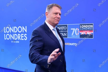 Romanian President Klaus Iohannis arrives at the NATO Summit in London, Britain, 04 December 2019. NATO countries' heads of states and governments gather in London for a two-day meeting.
