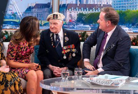 Cyril Banks, Piers Morgan and Susanna Reid