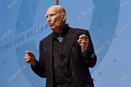Stock Photo of Brazilian photographer Sebastiao Salgado participates during the conference 'The Brazilian Amazon' at the UN Climate Change Conference COP25 held in Madrid, Spain, 03 December 2019. The UN Climate Change Conference COP25 runs from 02 to 13 December 2019 in the Spanish capital.