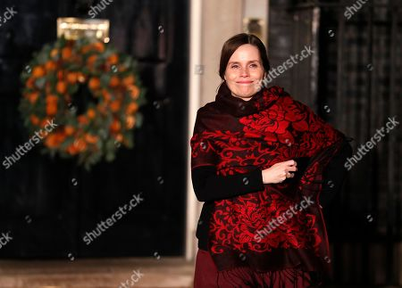 Iceland's Prime Minister Katrin Jakobsdottir leaves 10 Downing Street in London after attending a NATO reception hosted by British Prime Minister Boris Johnson, . U.S. President Donald Trump and his NATO counterparts were gathering in London Tuesday to mark the alliance's 70th birthday amid deep tensions as spats between leaders expose a lack of unity that risks undermining military organization's credibility