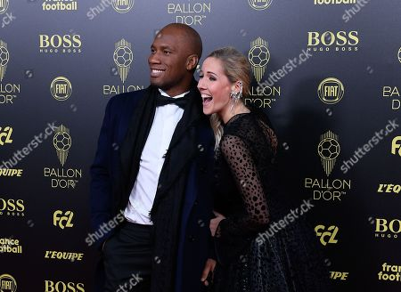 Stock Picture of Didier Drogba and Sandy Heribert