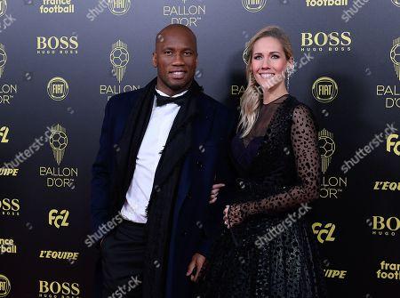 Didier Drogba and Sandy Heribert