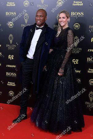 Stock Image of Didier Drogba and Sandy Heribert