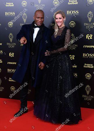 Stock Photo of Didier Drogba and Sandy Heribert