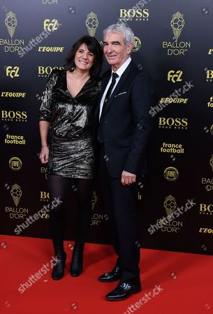 Stock Picture of Estelle Denis and Raymond Domenech
