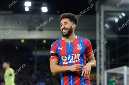 Andros Townsend of Crystal Palace in action during the Premier League match between Crystal Palace and AFC Bournemouth at Selhurst Park in London, UK - 3rd December 2019