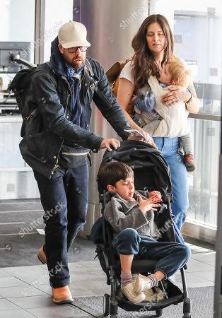Editorial image of Adam Goldberg and Roxanne Daner at LAX International Airport, Los Angeles, USA  - 02 Dec 2019