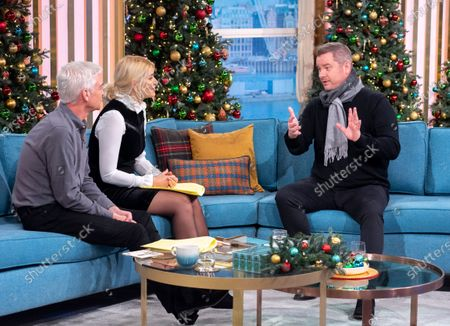 Stock Image of Phillip Schofield and Holly Willoughby with Tony Mortimer