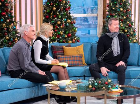 Stock Photo of Phillip Schofield and Holly Willoughby with Tony Mortimer