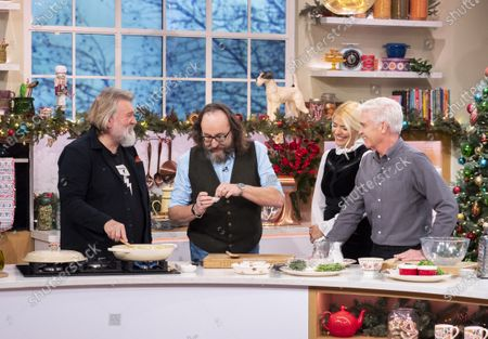 Stock Picture of Phillip Schofield and Holly Willoughby with The Hairy Bikers - Dave Myers and Simon King