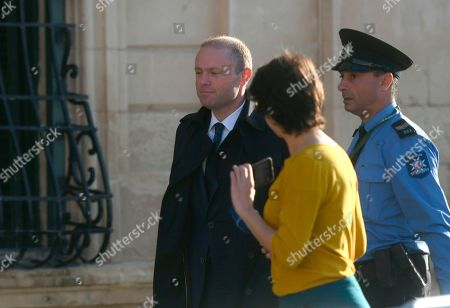Malta Prime Minister Joseph Muscat is seen as he enters his office at Castille, in Valletta, Malta, where he met a delegation of European Union lawmakers after an investigation into the murder of leading investigative journalist Daphne Caruana Galizia implicated Prime Minister Joseph Muscat's chief of staff
